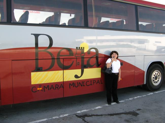 Pat at the Festival Bus, Portugal, 2008