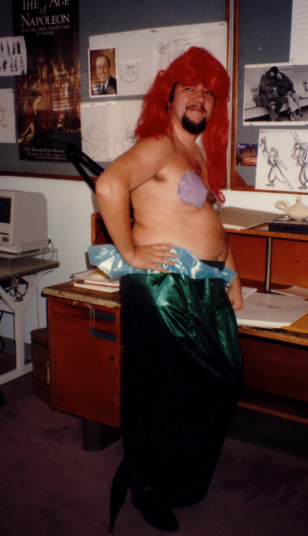 TOM AS THE LITTLE MERMAID.