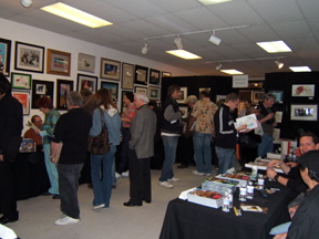 Crowd at CTN/Van Eaton Book Look evening. April 2007